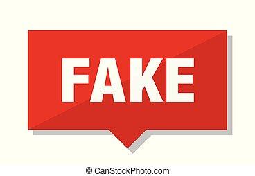 fake red tag - fake red square price tag