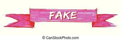 fake ribbon - fake hand painted ribbon sign