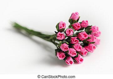 fake rose , fabric rose shallow depth of field (soft focus)