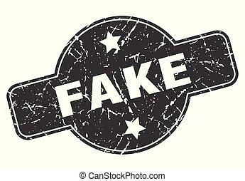 fake round grunge isolated stamp