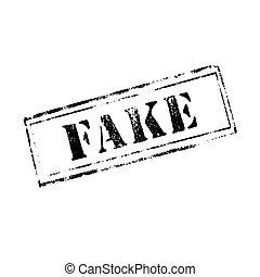'FAKE' rubber stamp