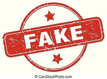 fake sign - fake vintage round isolated stamp