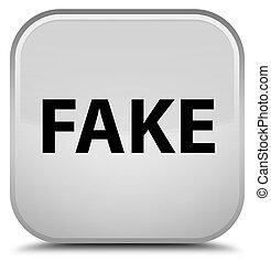 Fake special white square button