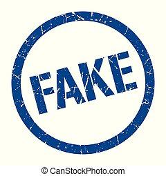 fake stamp - fake blue round stamp
