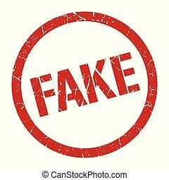 fake stamp - fake red round stamp