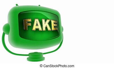 fake -  on loop alpha mated tv