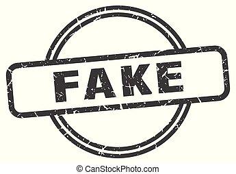 fake vintage stamp. fake sign