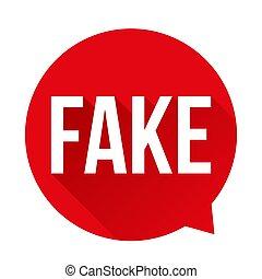 Fake Warning sign speech bubble