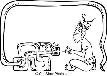 Fakir, illustration in maya style - Fakir, vector...