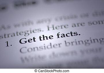 fakty, zdobywać