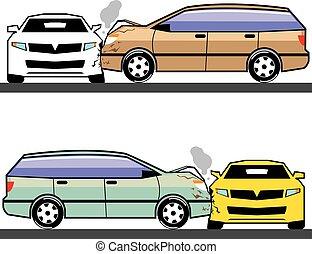 falência carro, lado