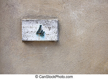 fal, épület szám