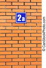 fal, épület, tégla, 2, szám