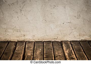 fal, fából való, grunge, emelet