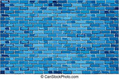 fal, kék, tégla