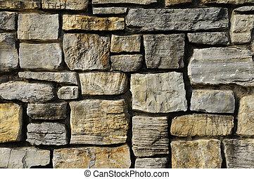 fal, kőművesség, struktúra, kő