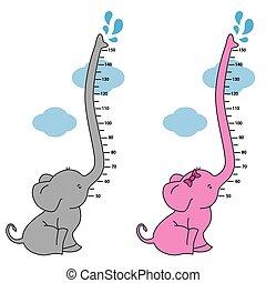 fal, méter, elefánt
