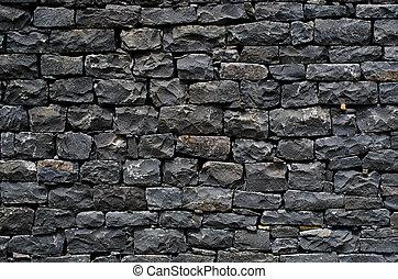 fal, megkövez, fekete