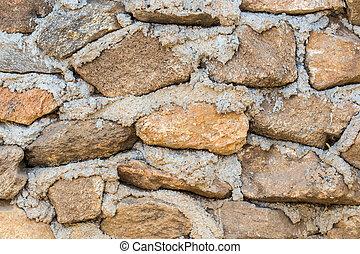 fal, megkövez, háttér, középkori, struktúra