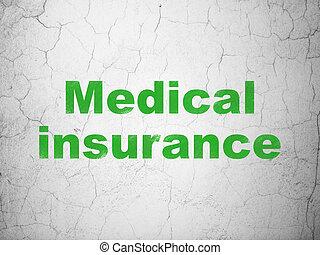 fal, orvosi, concept:, biztosítás, háttér