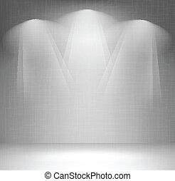fal, reflektorfény