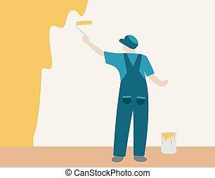 fal, szobafestő
