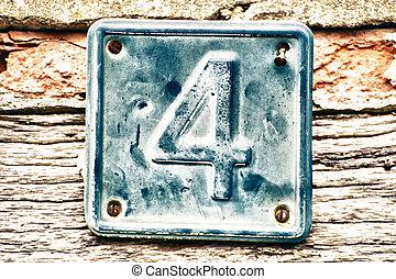 fal, tányér, öreg, szám 4