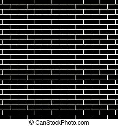 fal, tégla, fekete, struktúra