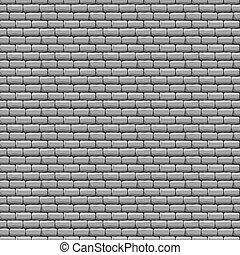 fal, tégla, szürke, struktúra, seamless