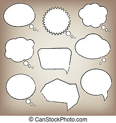 fala, abstratos, bolha