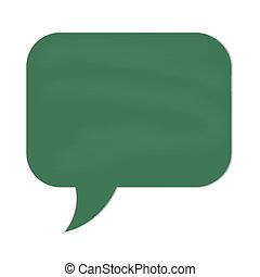 fala, chalkboard verde, nuvem