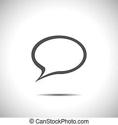 fala, vetorial, bolha, ícone