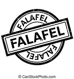 falafel, ゴム製 スタンプ