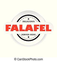falafel, 型, 切手, 印