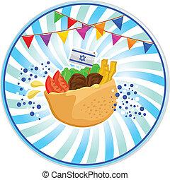 falafel in pita - falafel (Israeli food) with the Israeli...