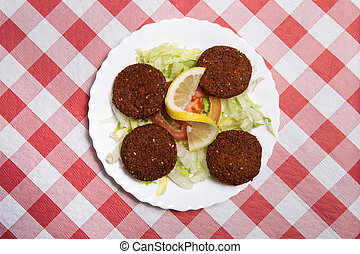 Falafel. Lebanese and Middle Eastern food.