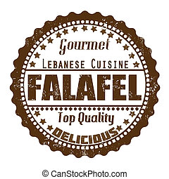 Falafel stamp - Falafel grunge rubber stamp on white, vector...