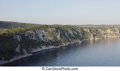 falaise, rivage mer