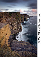 falaises, ireland., co, moher, clare