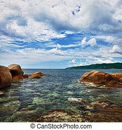 falaises, -, paysage, côtier, océan