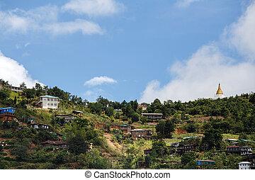 Falam, Myanmar (Burma) - Falam Town , Chin State Mountain...