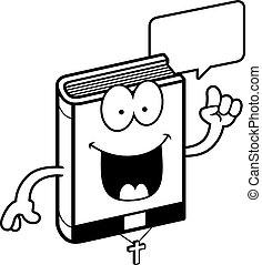 falando, bíblia, caricatura