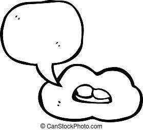 falando, boca, símbolo