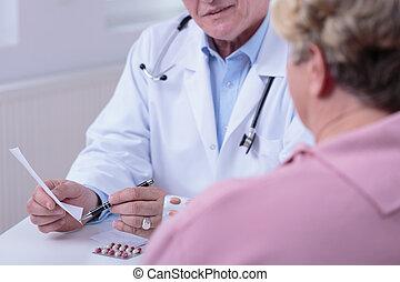 falando,  medic, paciente
