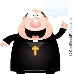 falando, padre, caricatura