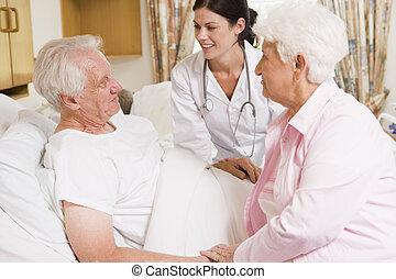 falando, par velho, doutor