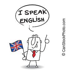 falar, inglês