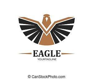 falcon, eagle logo icon vector illustration design