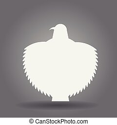 Falcon eagle logo silhouette with outspread wings isolated.