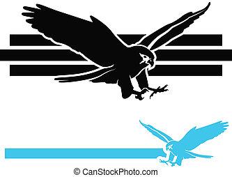 Falcon Icons - Bird of Prey/Falcon Swooping